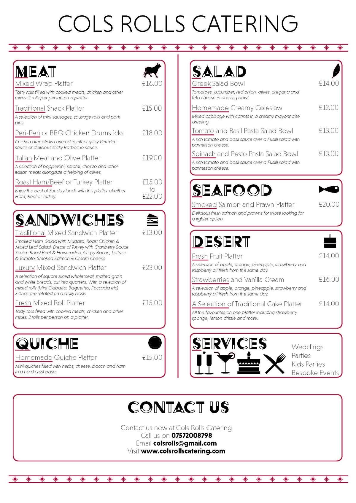 Pages from Cols Rolls Catering